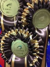 Three Tier Rosettes - Black & Gold